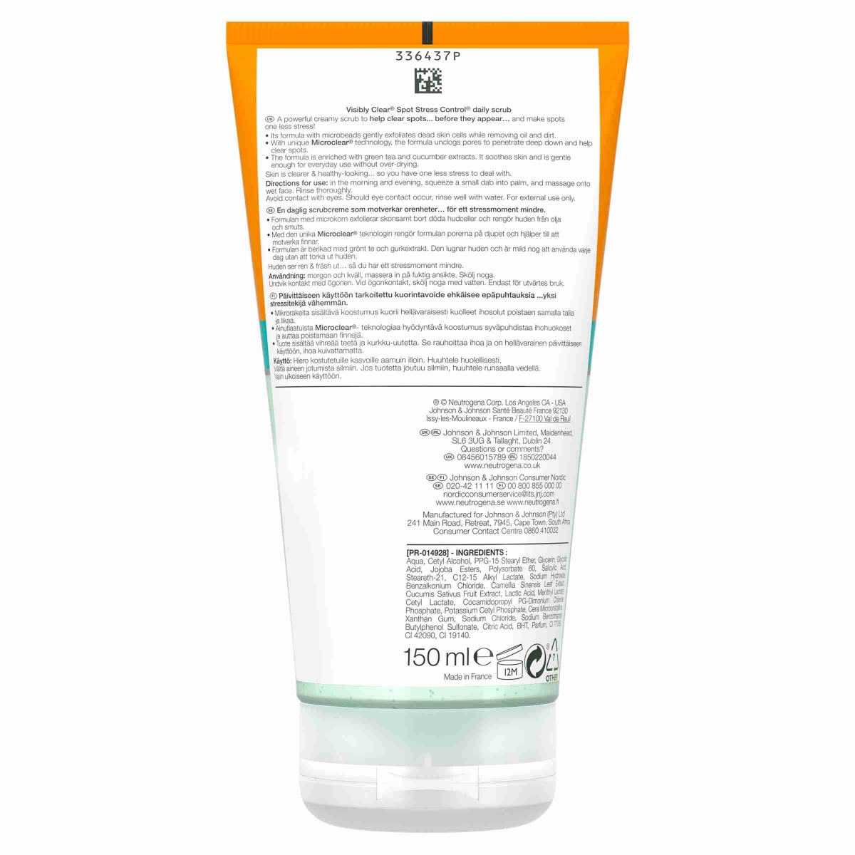 NEUTROGENA® Visibly Clear® Spot Stress Control® Daily Scrub